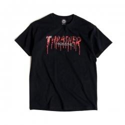 Tee Shirt Thrasher Blood Drip Black 2021 pour homme