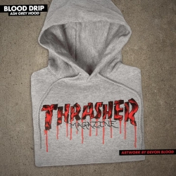 Sweat Thrasher Blood Drip Ash 2021 pour homme