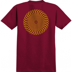 Tee shirt Spitfire Classic Swirl Cardinal 2022 pour homme
