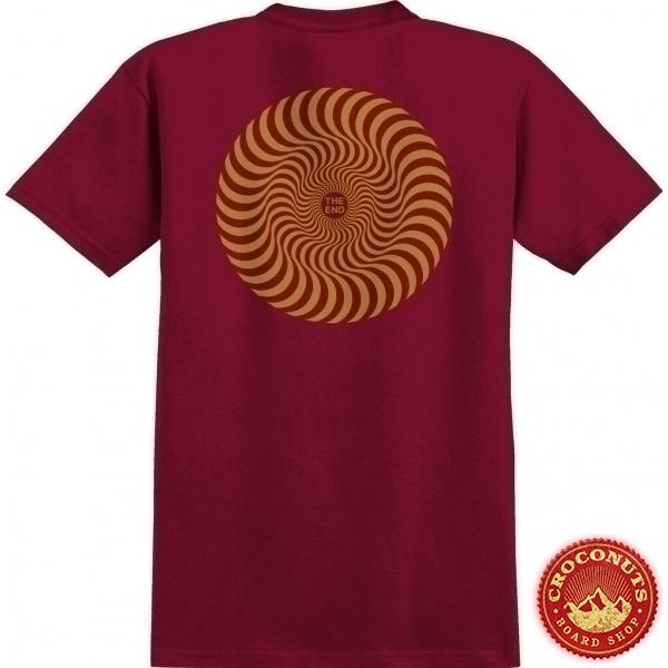 Tee shirt Spitfire Classic Swirl Cardinal 2022