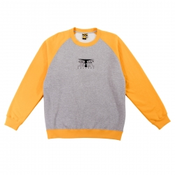 Sweat Krooked Faces Crew Grey Heather 2022 pour homme