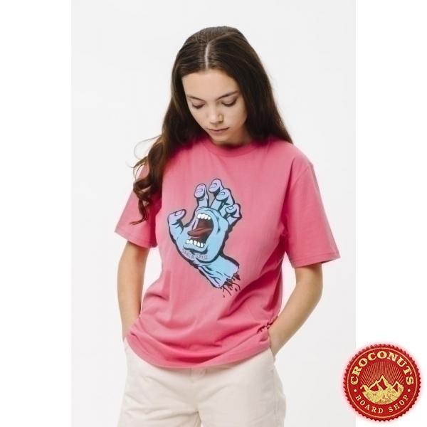 Tee Shirt Santa Cruz Screaming Hand Pink Lemonade 2021