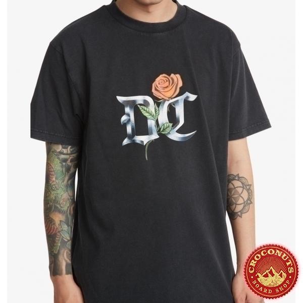 Tee Shirt Dc Shoes Chrome Rose Black Acid 2021