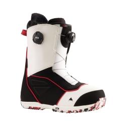 Boots Burton Ruler Boa White Black Red 2022 pour homme