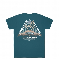 Tee Shirt Jacker Endless Falling Blue 2022 pour