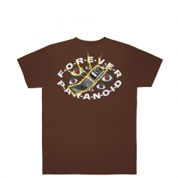 Tee Shirt Jacker Paranoid Brown 2022 pour