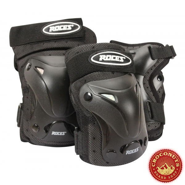 Pack de Protections Roces Ventilated Black 2021