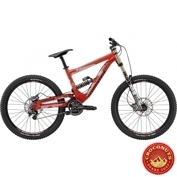 12 sur vtt commencal supreme dh v2 rouge matt bike pas. Black Bedroom Furniture Sets. Home Design Ideas