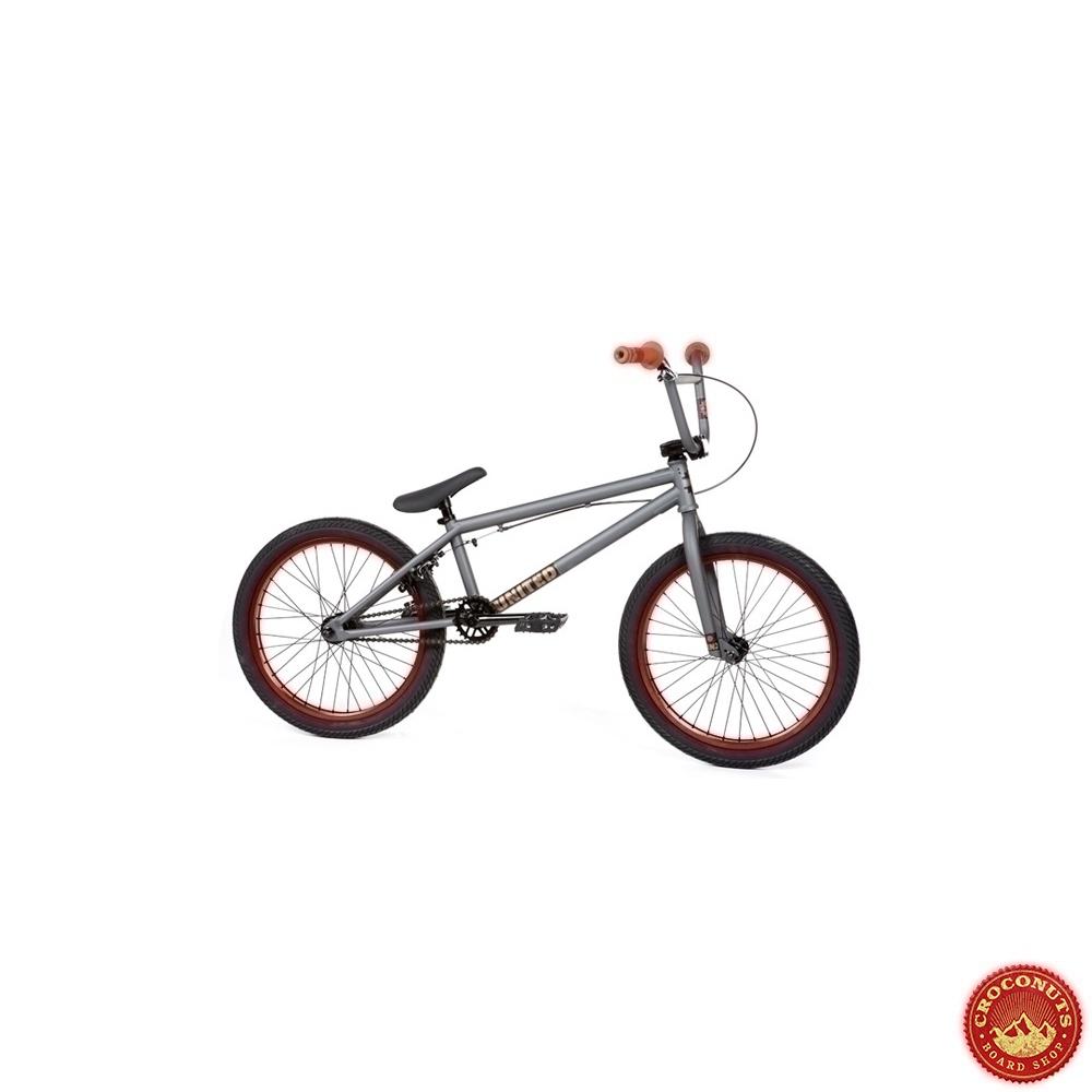 16 sur bmx united rn2 flat grey red bike pas cher. Black Bedroom Furniture Sets. Home Design Ideas
