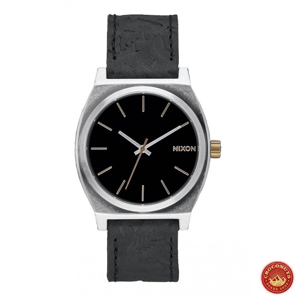 montre nixon time teller black brass pour magasin de streetwear nixon. Black Bedroom Furniture Sets. Home Design Ideas