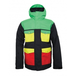 Veste 686 Snaggletooth Blvd Rasta Colorblack 2015