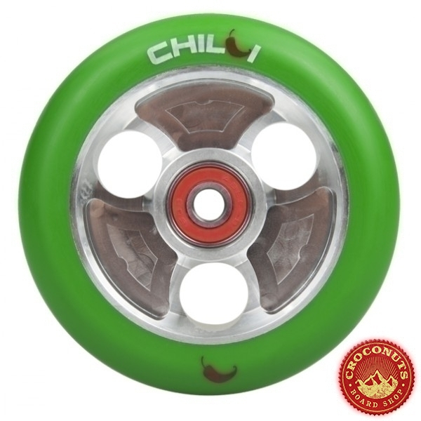Roue Chilli Silver Vert 100mm 2020