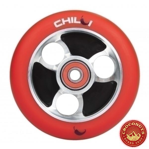 Roue Chilli Noir Rouge 100mm 2020