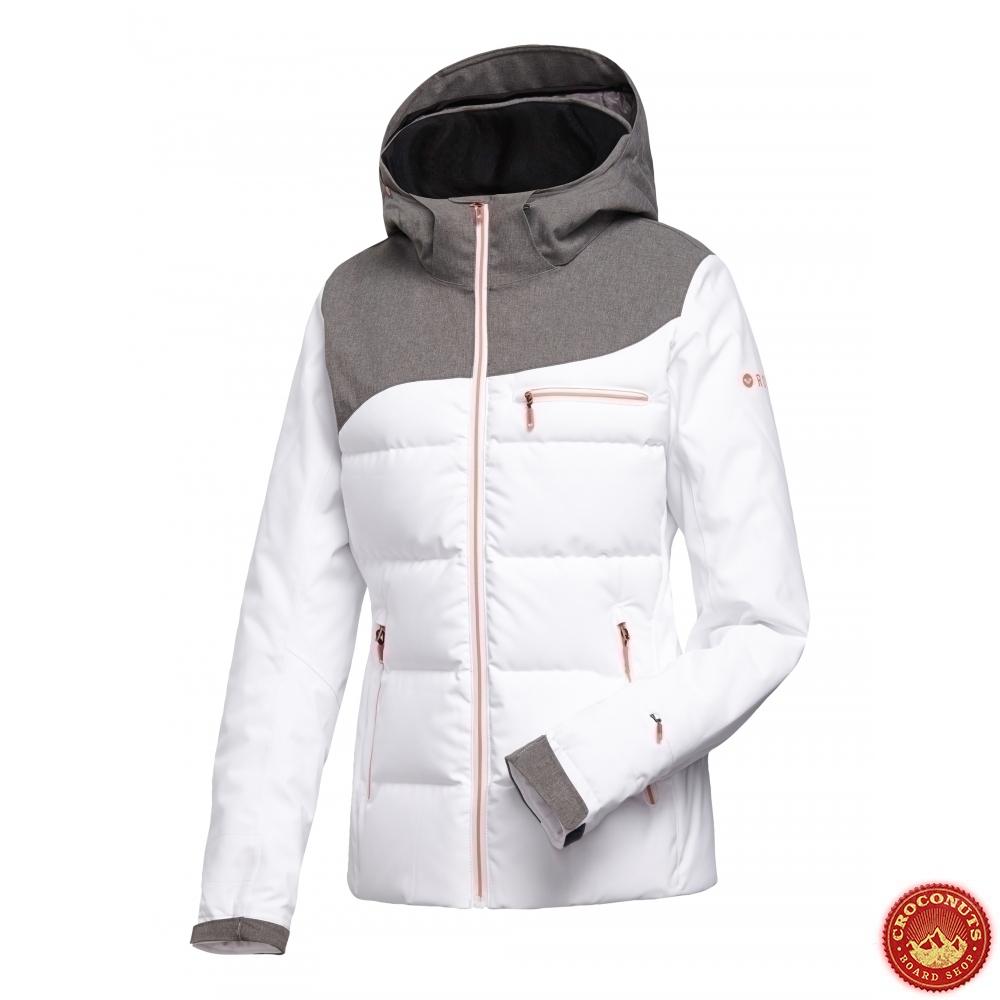 31 Veste White Bright Pas Snowboard Flicker Sur Cher Roxy rOwqr5T