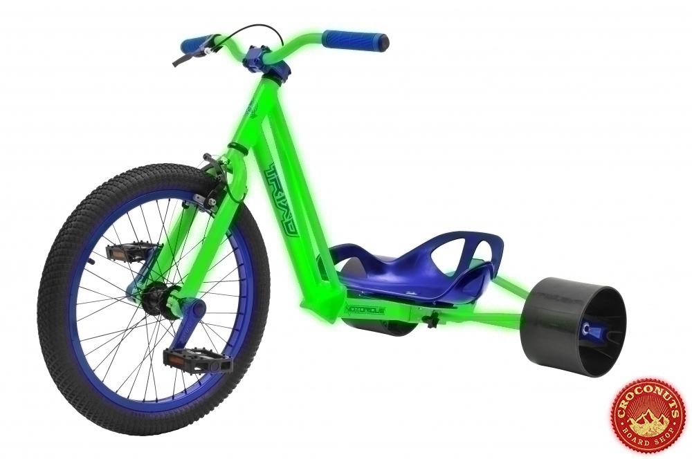 drift trike triad notorious green blue bike triad shop. Black Bedroom Furniture Sets. Home Design Ideas